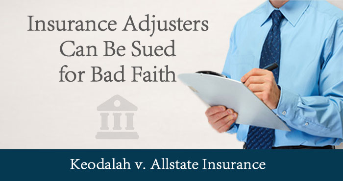 Insurance Adjuster Sued