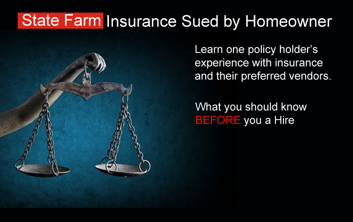 State Farm Sued by Homeowner Water Damage