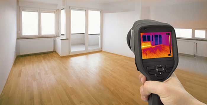 Thermal imaging to detect moisture