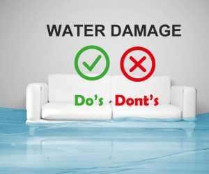 Water Damage Do's and Don'ts