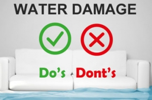 Water Damage Do's and Dont's